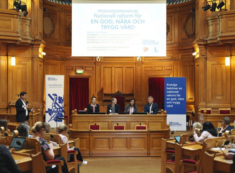 Läkarförbundets politik visas i riksdagen