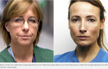 Karin Båtelson och Heidi Stensmyren