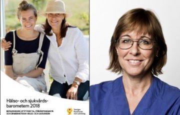 SKL:s Hälso- och sjukvårdsbarometer och Karin Båtelson