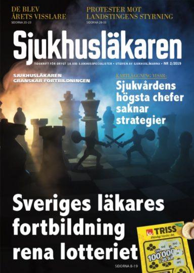 Tidningen Sjukhusläkaren nr 2 2019 Förstasida