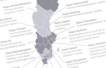 Kartläggning av intermediärvårdplatser runt om i Sverige