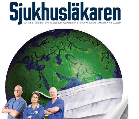 Förstasidan till nummer två 2020 av tidningen Sjukhusläkaren