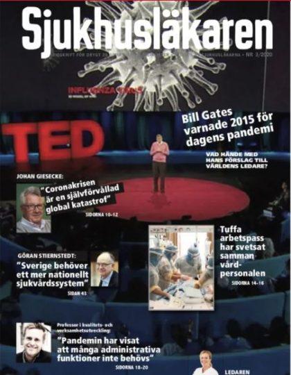 Omslaget till tidningen Sjukhusläkarens tredje nummer 2020
