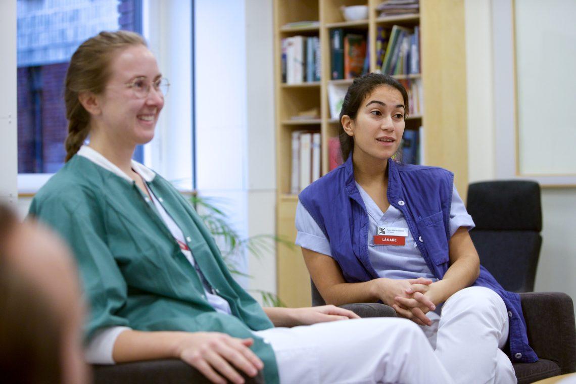 läkarstudent som undersköterska