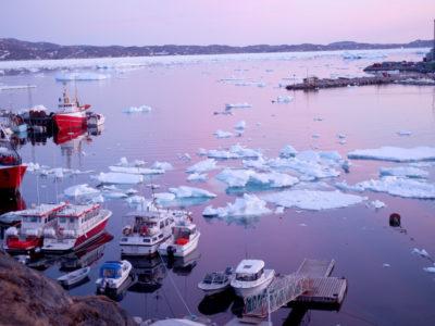 En vik på Grönland