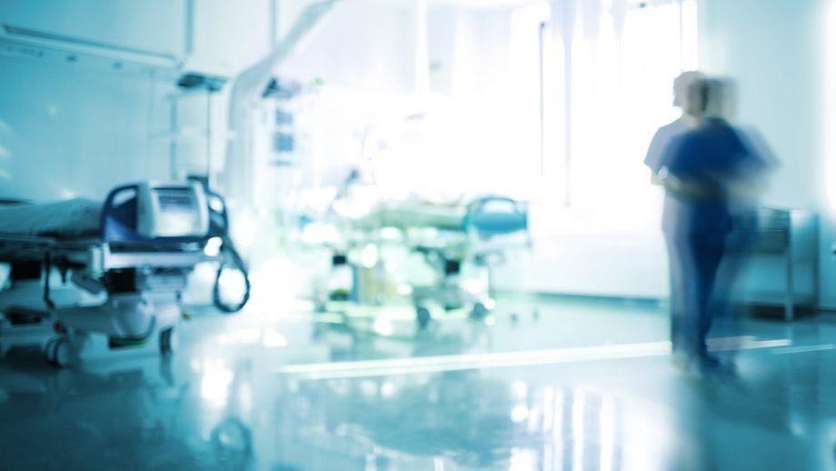 Sjukhusmiljö.